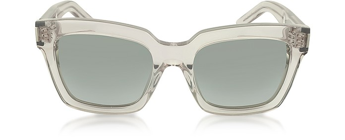 BOLD 1 I4J5L Transparent Turtledove Acetate Women's Sunglasses - Saint Laurent