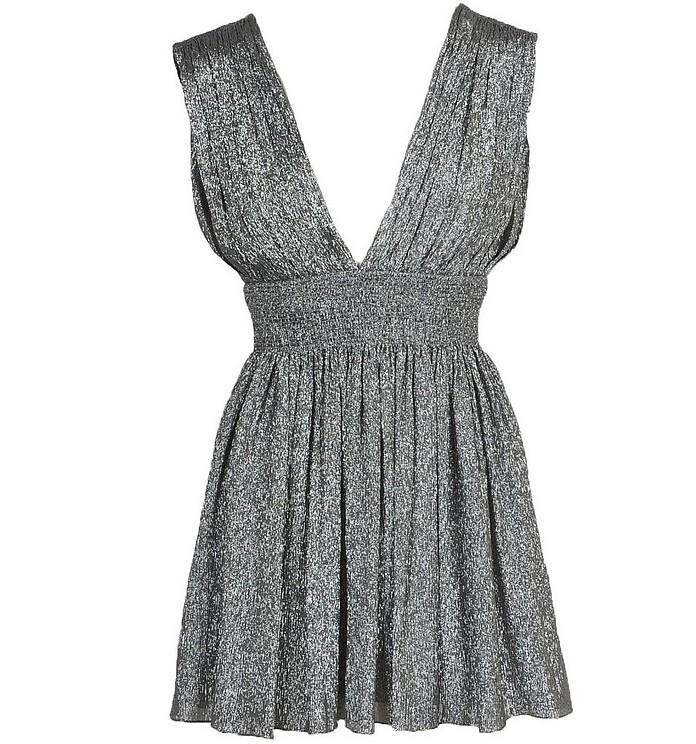 Women's Silver Dress - Saint Laurent