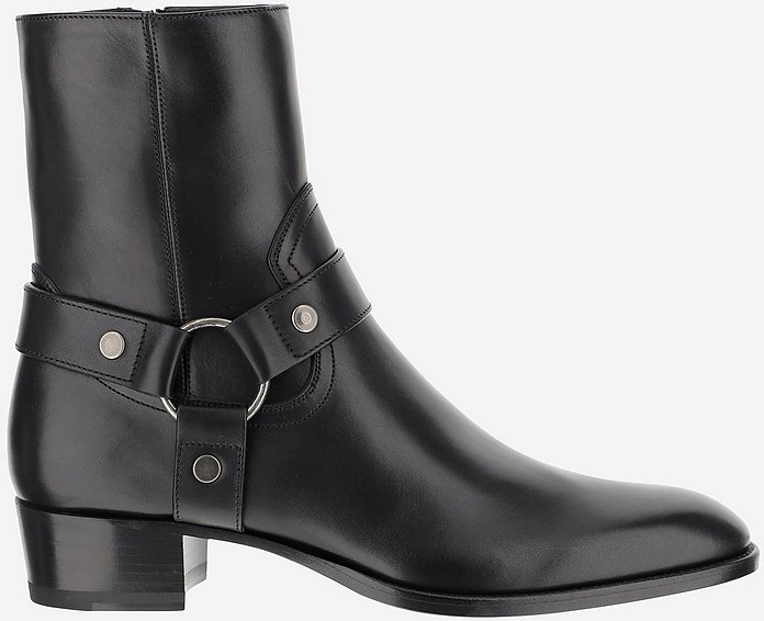 Black Ankle Boots - Saint Laurent