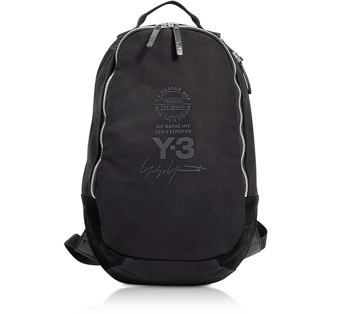 Black Signature Nylon Backpack - Y-3