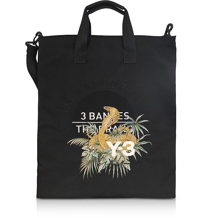 Black Signature Print Tote Bag - Y-3