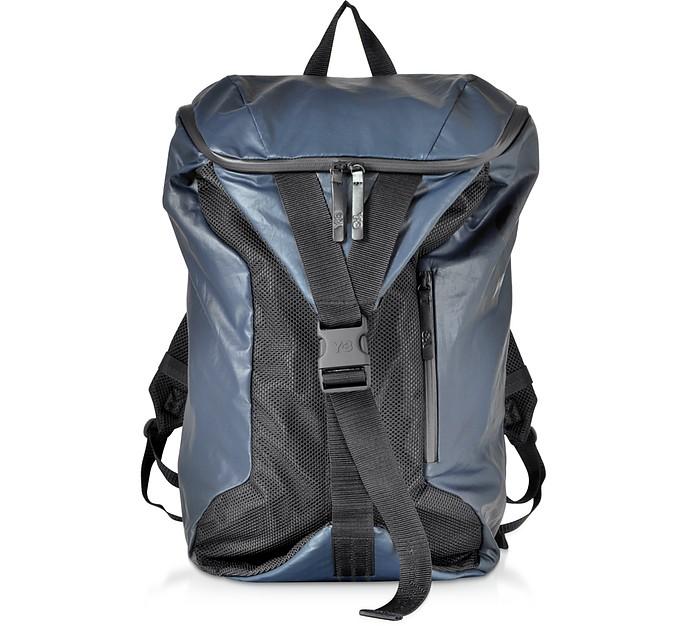6ff9f4ac46c6 Y-3 Blue Nylon Y-3 Base Backpack at FORZIERI