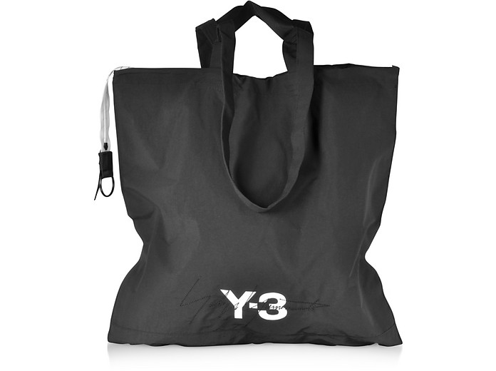 Y-3 Black Nylon Oversized Tote Bag - Y-3
