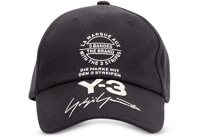 Cappello da Baseballin Cotone Nero con Logo Y-3 LBgQinsYpW
