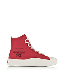 Red Stretch Bashyo Canvas High-top Women's Sneakers - Y-3
