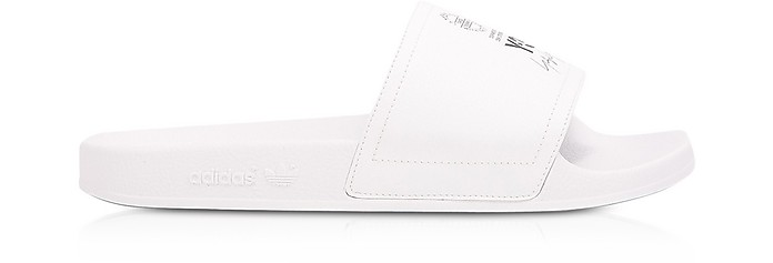 White and Black Y-3 Adilette Slide Sandals - Y-3