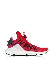 Kusari Sneakers in Tessuto Mesh e Pelle Red Pepper - Y-3