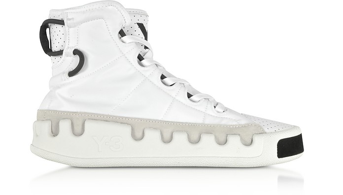 Y-3 Kasabaru White Nylon High-Top Men's Sneakers - Y-3