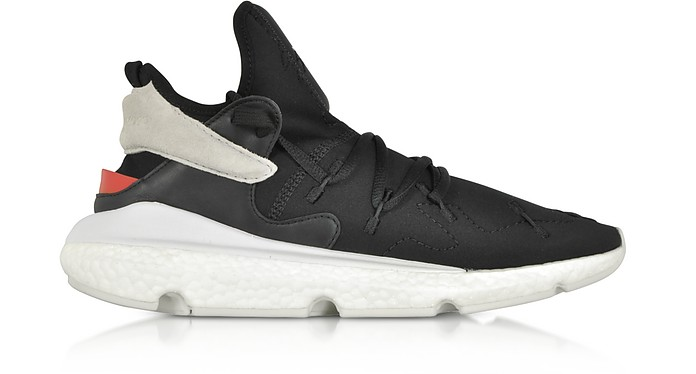 Y-3 Kusari II Black Neoprene Slip-on Men's Sneakers - Y-3