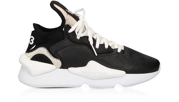Kaiwa Black Leather Men's Sneakers - Y-3