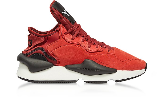Kaiwa Lush Red Suede Men's Sneakers - Y-3