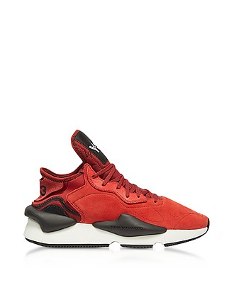 c13cfc15d Y-3 Kaiwa Lush Red Suede Men s Sneakers 11.5 US