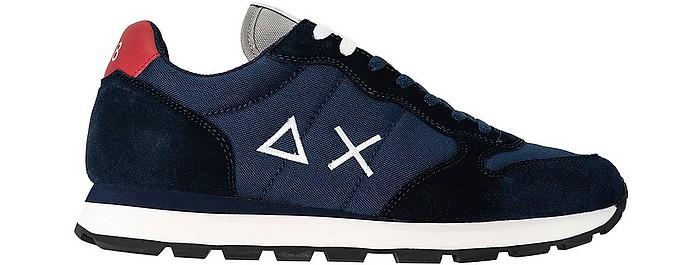 Tom Dark Blue Nylon Men's Sneakers - SUN68