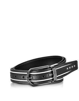 80b599b39b3 Signature Canvas and Leather Reversible Men s Belt - Ermenegildo Zegna