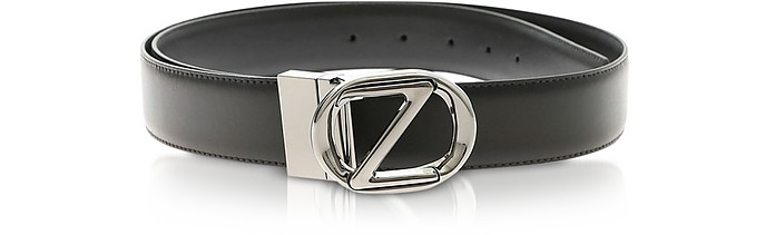 Genuine Leather Reversible and Adjustable Men's Belt - Ermenegildo Zegna