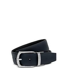 Navy/Black Calf Leather Men's Belt