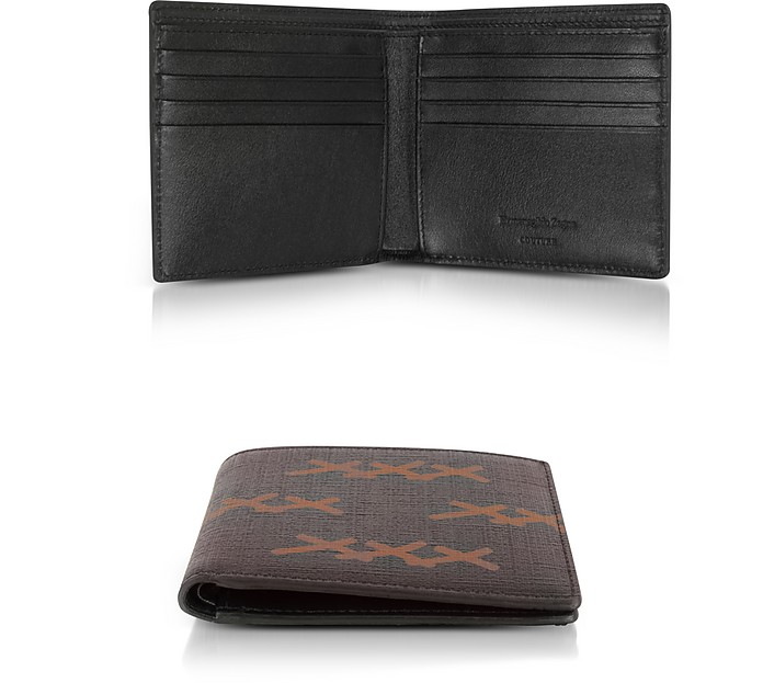 XXX Printed Canvas and Leather Billfold Wallet - Ermenegildo Zegna