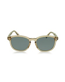 EZ0005 45N Transparent Acetate Men's Sunglasses - Ermenegildo Zegna