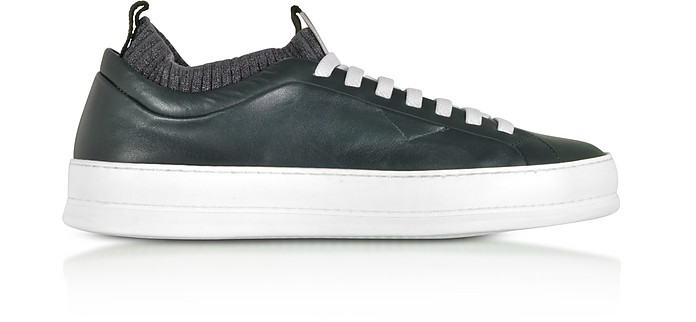 Iacopo Green Low Top Sneakers - Ermenegildo Zegna