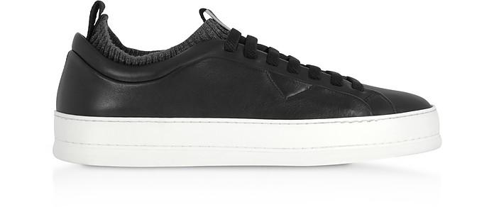 Iacopo Black Low Top Sneakers - Ermenegildo Zegna