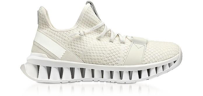 White TECHMERINO A-Maze Sneakers - Ermenegildo Zegna