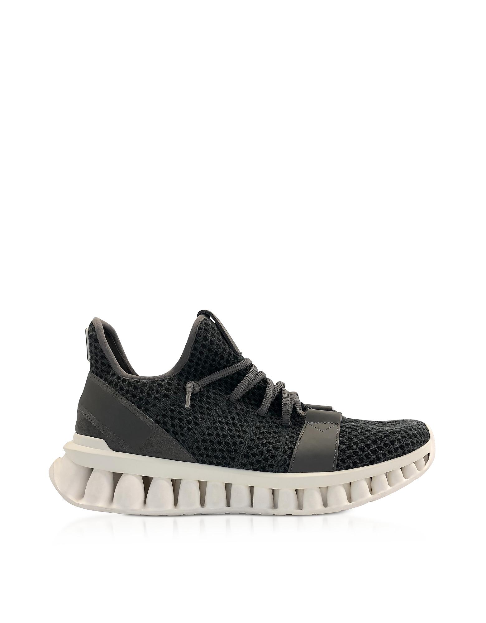 Ermenegildo Zegna Sneakers GRAY TECHMERINO A-MAZE SNEAKERS