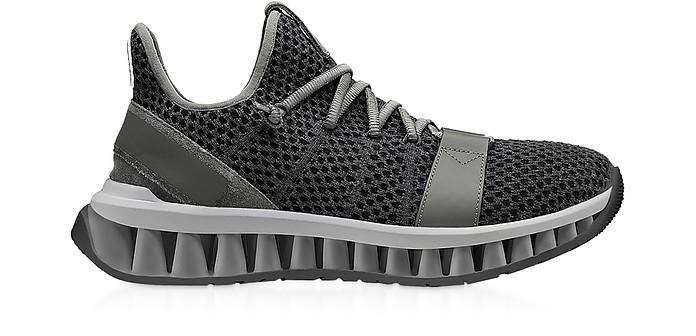 Gray TECHMERINO A-Maze Sneakers - Ermenegildo Zegna
