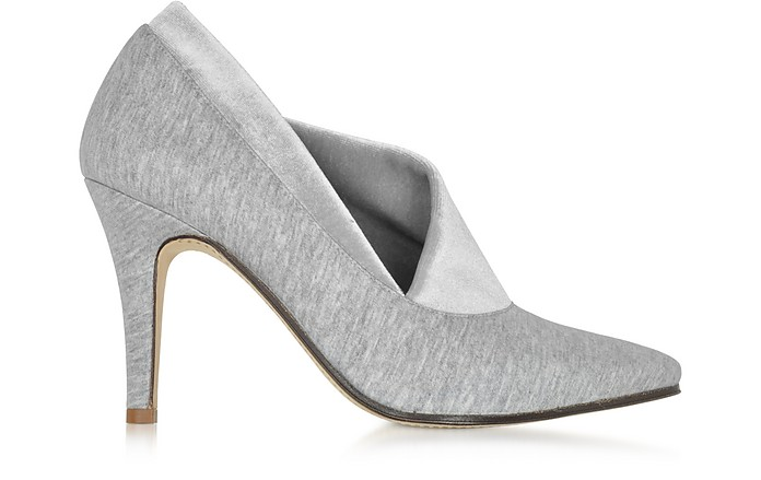 Noble Grey Cotton & Velvet Pump - Zoe Lee