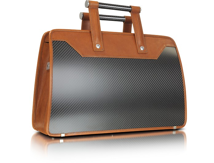Carbon Business Vintage - Carbon Fiber Briefcase - Aznom