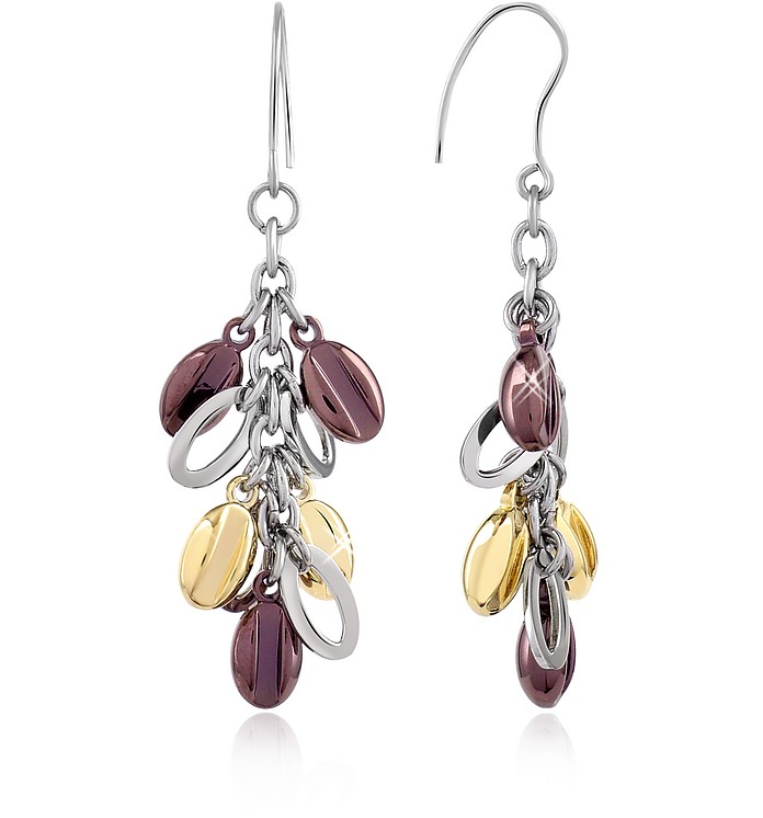Coffee Collection - Stainless Steel Dangle Earrings - Zoppini