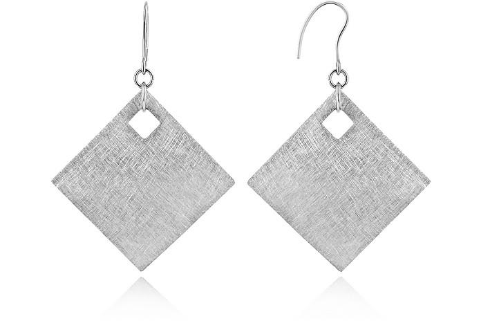 Brushed Stainless Steel Earrings - Zable