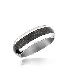 Zo Dark - Carbon Fiber & Stainless Steel Band Ring - Zoppini