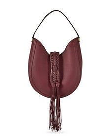 Ghianda Small Garnet Red Leather Knot Hobo Bag - Altuzarra