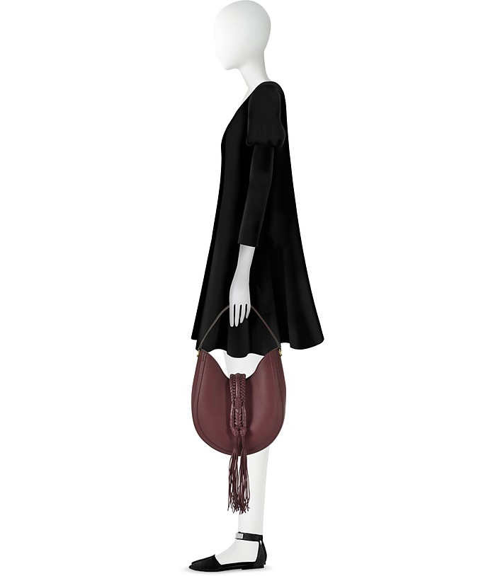 a0303686ad4 Ghianda Small Garnet Red Leather Knot Hobo Bag - Altuzarra. Sold Out
