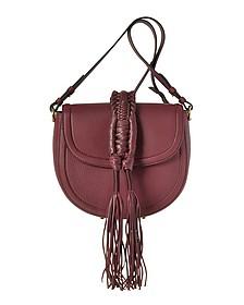 Ghianda Knot Garnet Red Leather Saddle Bag - Altuzarra