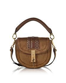Chocolate Suede Ghianda Top Handle Mini Saddle Bag - Altuzarra