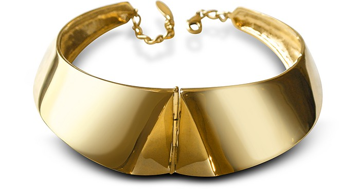 Golden Brass Choker Necklace - Giuseppe Zanotti