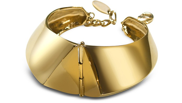 Golden Brass Cuff Bracelet - Giuseppe Zanotti