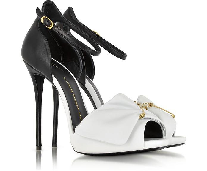 Black and White Pin Sandal - Giuseppe Zanotti