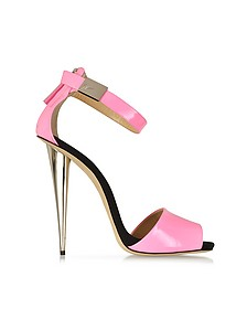 Neon Pink Patent Leather Sandal