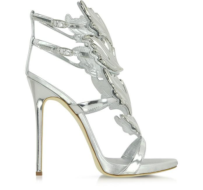 Silver Metallic Leather Sandal - Giuseppe Zanotti