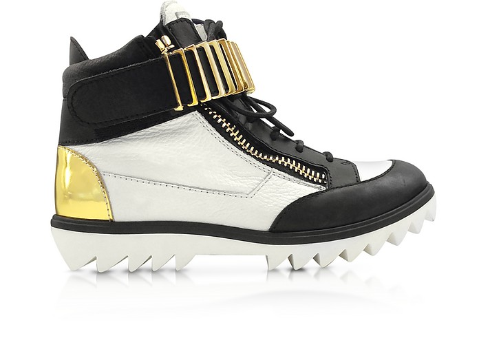 Black and White High-top Sneaker - Giuseppe Zanotti