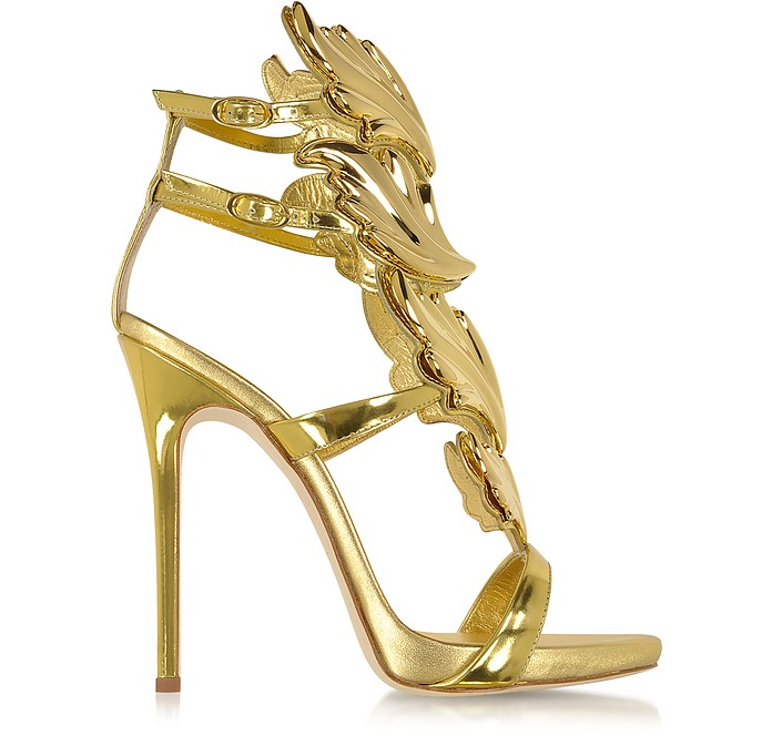 Cruel Gold Metallic Leather Sandal - Giuseppe Zanotti