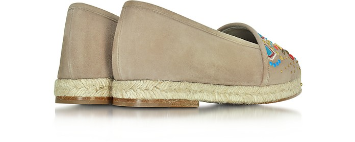 5b355b0374399 Gipsy Cappuccino Suede Embroidered Espadrille - Giuseppe Zanotti. $260.00  $650.00 Actual transaction amount
