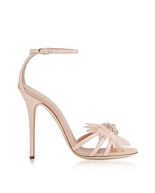 Annemarie Pink Patent Leather High Heel Sandals w/Flower - Giuseppe Zanotti