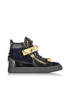 London Velvet Veronica Navy High-Top Sneaker