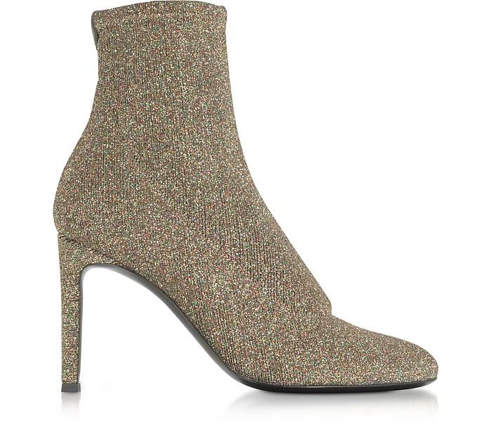 Glitter Stretch Fabric Heel Booties - Giuseppe Zanotti