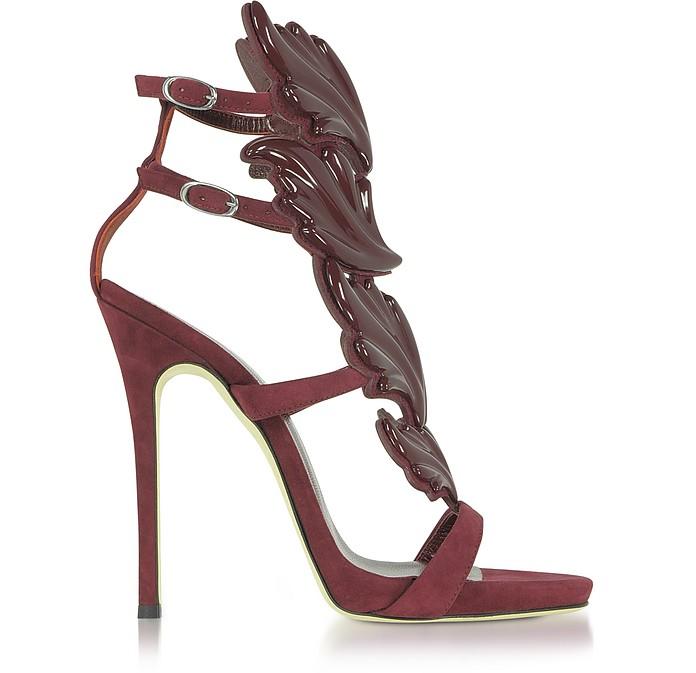 37569e519 Giuseppe Zanotti Cruel Burgundy Suede High Heel Sandals 35 IT EU at ...