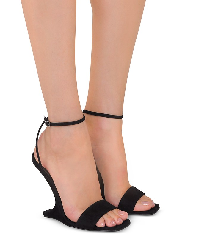 Giuseppe Zanotti Sandals Black Suede Wedge Sandals