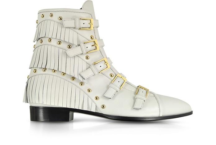 Studded and Fringe Leather Bootie - Giuseppe Zanotti
